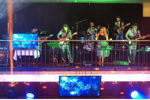 Prague Marriott Hotel New Year Celebration - Band Playing