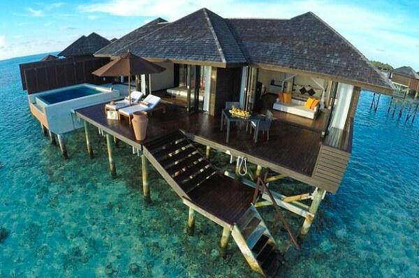 Overwater Villa at Lily Beach Resort and Spa at Huvahendhoo