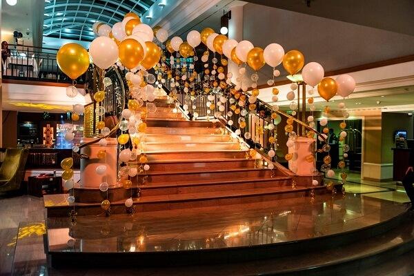 Prague Marriott Hotel New Year's Eve Celebration Decoration