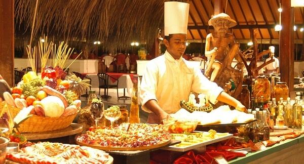 Restaurant at Adaaran Club Rannalhi Maldives