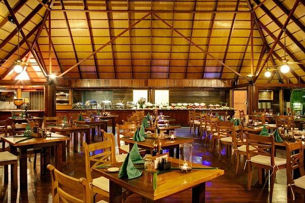 Restaurant at Gangehi Island Resort Maldives