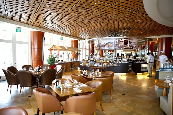 Town Restaurant at The Fullerton Hotel Singapore