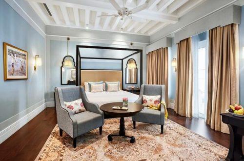 Colonial Blue Room at Taj Connemara Chennai