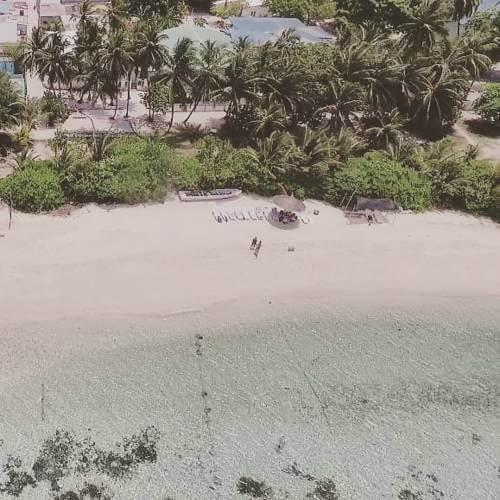 Aerial View of Vaali Beach Lodge Maldives