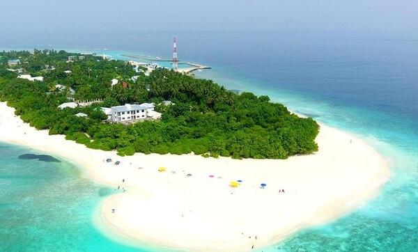 Aerial View of Island Vista Inn Ukulhas