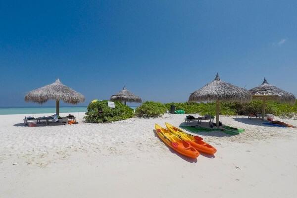 Beach Area at Gunbaru Inn Ukulhas Maldives
