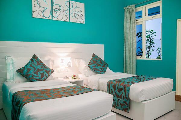 Twin Bed Room at Island Host Velidhoo Maldives
