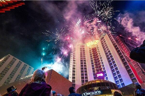 The Plaza Hotel and Casino Las Vegas NYE Fireworks